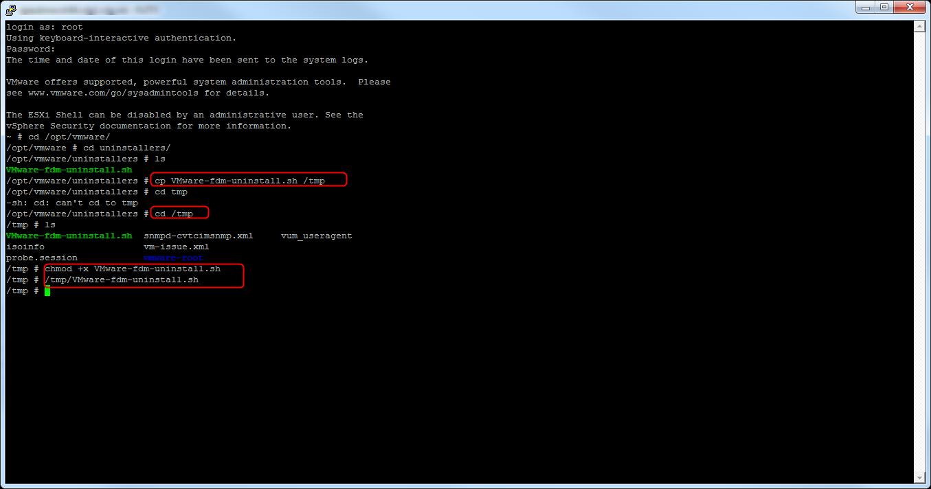 SSH Host FDM Uninstaller