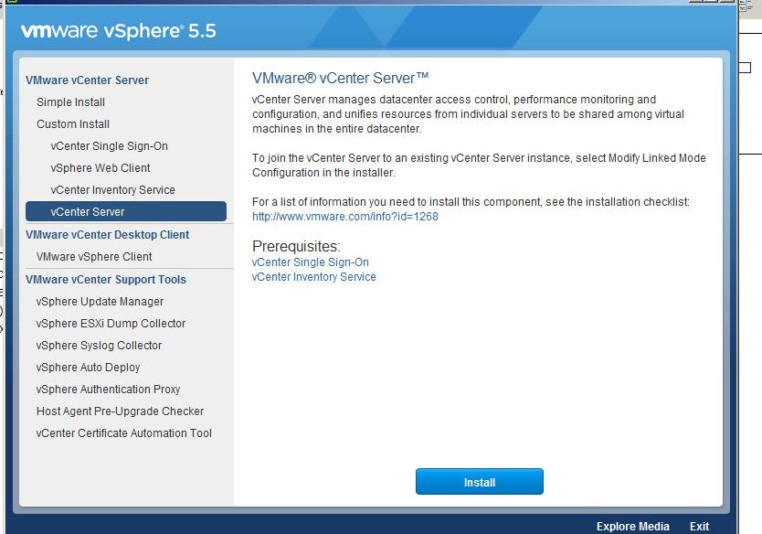 vcenter server upgrade step 1
